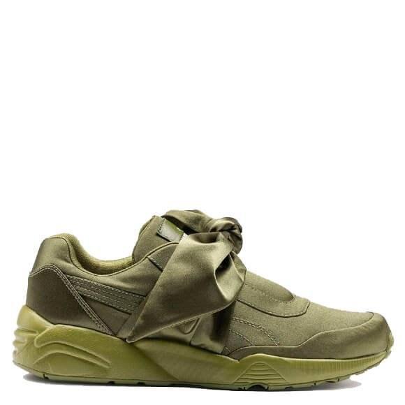 Оригинальные кроссовки женские Puma х Rihanna Fenty Bow Sneaker Olive Branch