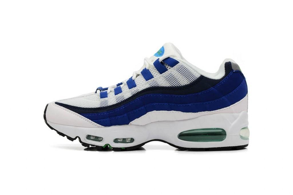 Оригинальные кроссовки женские Nike Air Max 95 OG White/Blue