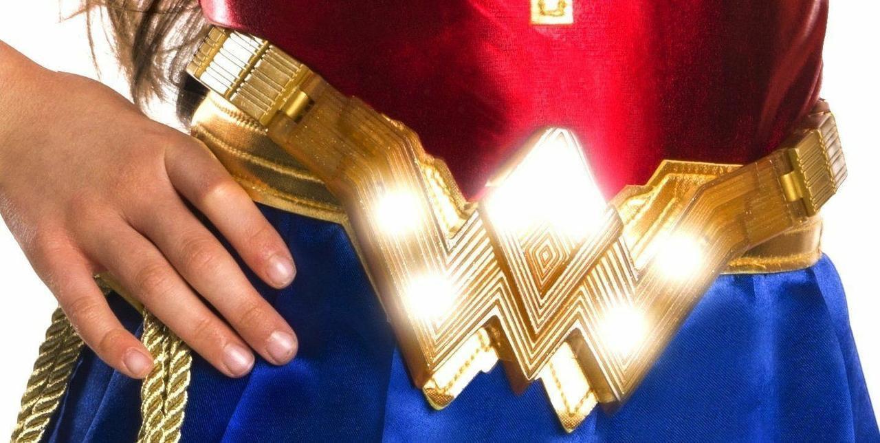 Пояс Чудо-женщины в золотом цвете со звуком и светом - Wonder Women, Belt, Batman v Superman, Imagine