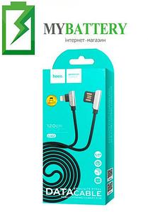 USB кабель Hoco U42 Exquisite steel iPhone (1200mm), 2.4A черный