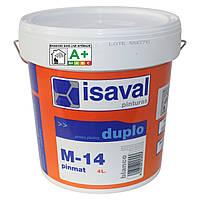 М-14 Пинмат - глубокоматовая фарба для стель ISAVAL 4л до 32м2
