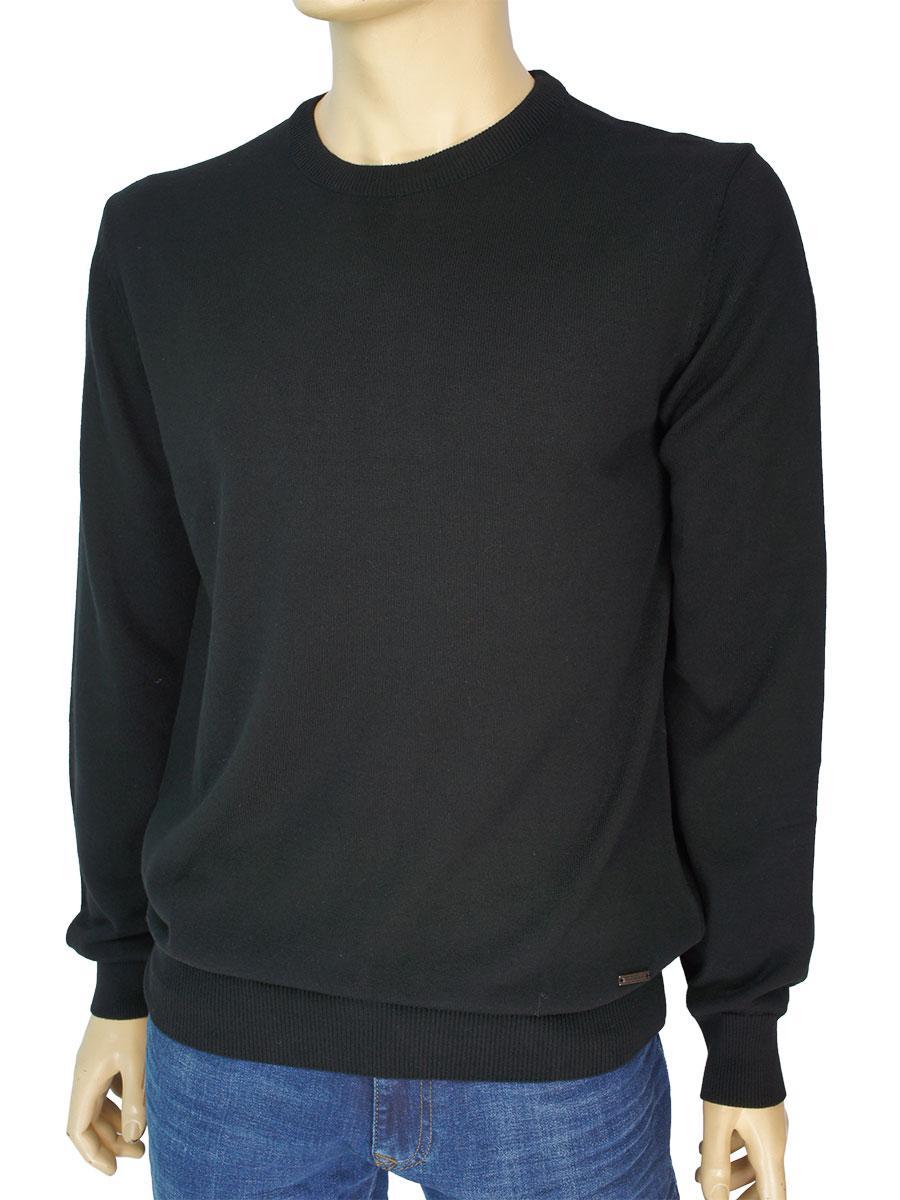 Однотонный мужской свитер Better Life BT-1001 Siyan черного цвета