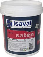 Акрилова фарба для шпалер і рельєфних поверхонь Сатинадо Супер, з шовковистим блиском ISAVAL 1л до 15м2