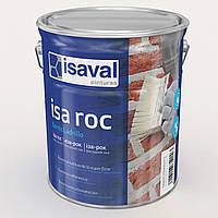 """Гідроізолюючий фасадний лак Isaval Іза-Рок 16 л прозорий з ефектом """"Мокрого каменю"""""""