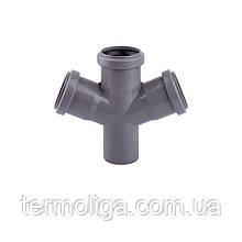 Крестовина канализационная TA Sewage 110х110х110х110, 45°