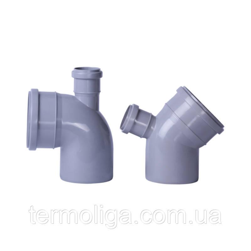 Колено с отводом TA Sewage 50х110х110, 45°
