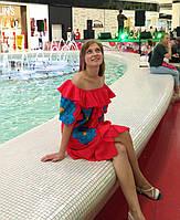 Сукня жіноча , батист, червоний колір, фото 1