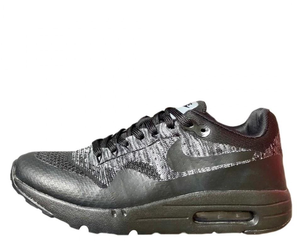Кроссовки мужские Nike Air Max 1 Ultra Flyknit Black/Grey