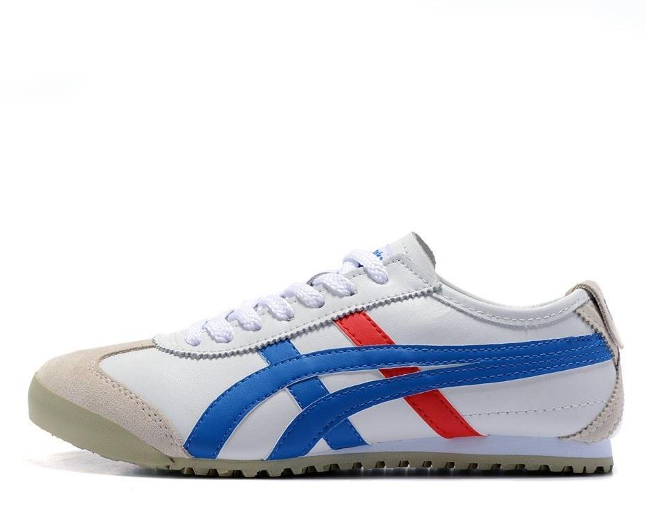 Оригинальные кроссовки мужские Asics Gel x Onitsuka Tiger White/Cream/Blue/Red