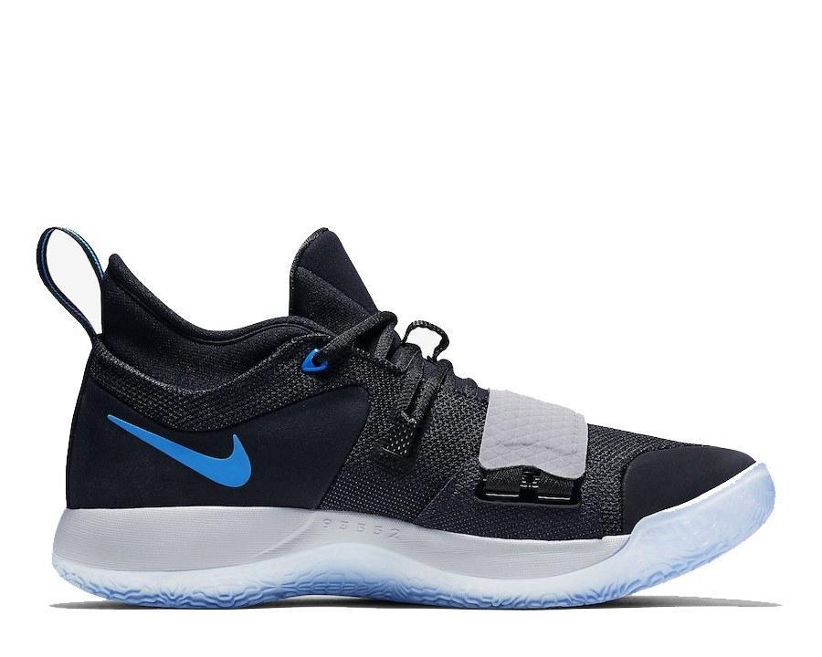 Оригинальные кроссовки баскетбольные мужские Nike PG 2.5 Black/Photo Blue
