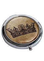 Зеркальце косметическое DM 01 Королева коричневое - 176843