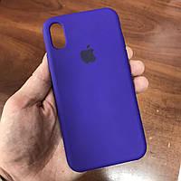 Чехол на телефон iphone x xs 10 красивый силиконовый бампер для айфона 10 фиолетовый, фото 1