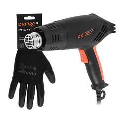 Фен промышленный Dnipro-M GH-200 + Перчатки хозяйственные Profit
