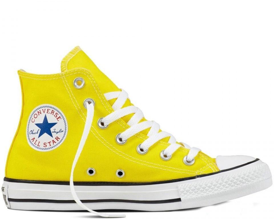 Оригинальные кеды мужские Converse All Star Chuck Taylor High Yellow