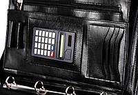 Деловая папка с калькулятором из эко кожи AMO SSBW04 чёрный, фото 1