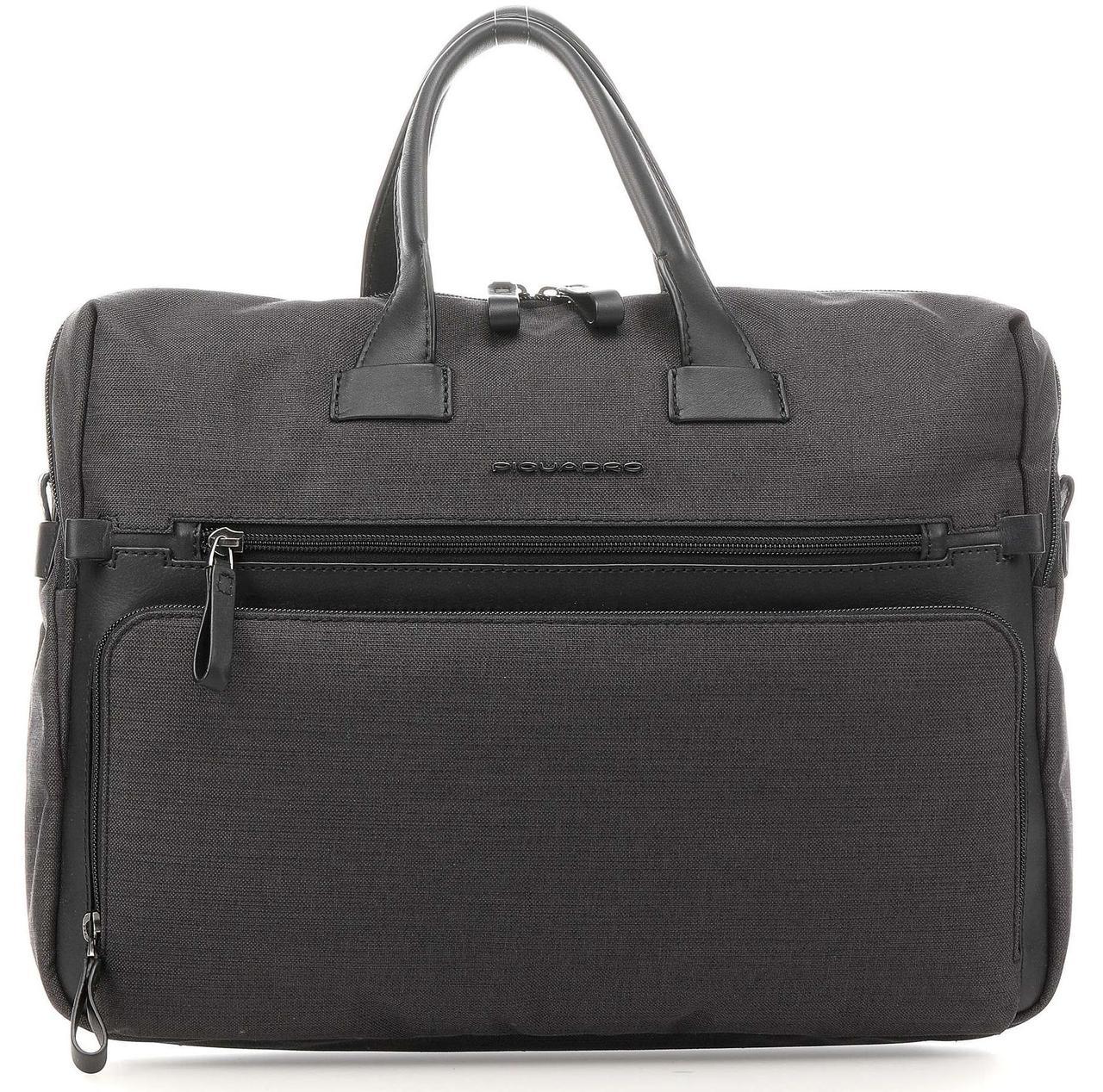 Кожаный портфель Piquadro Tiros черный