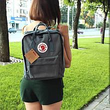 Стильный рюкзак сумка Fjallraven Kanken Classic канкен класик Серый 7108 ViPvse