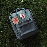 Стильный рюкзак, сумка Fjallraven Kanken Classic, канкен класик. Серый / 7108 Vsem, фото 2
