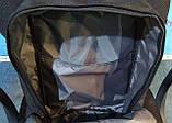 Стильный рюкзак, сумка Fjallraven Kanken Classic, канкен класик. Серый / 7108 Vsem, фото 5