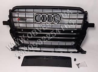 Решітка радіатора Audi Q5 2012-2015 стиль SQ5 Black Edition