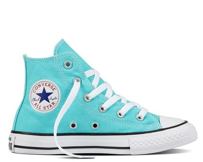 Оригинальные кеды женские Converse All Star Chuck Taylor High Turquoise