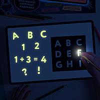 Трафареты английского алфавита Alphabet для набора Рисуй светом