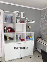 Шкаф, стеллаж с открытыми секциями. Модель V367/1 белый