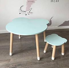 Дитячий дерев'яний комплект. Дерев'яний столик і табуретка Мишко. 100% дерево масив бук