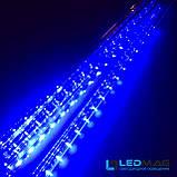 Светодиодная гирлянда Падающая капля (тающая сосулька), 8шт*50см, 3м 288 LED, ПВХ Синий, фото 3