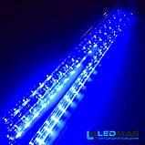 Светодиодная гирлянда Падающая капля (тающая сосулька), 8шт*50см, 3м 288 LED, ПВХ Синий, фото 2