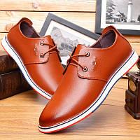 Осенняя кожаная обувь мужская британская повседневная обувь