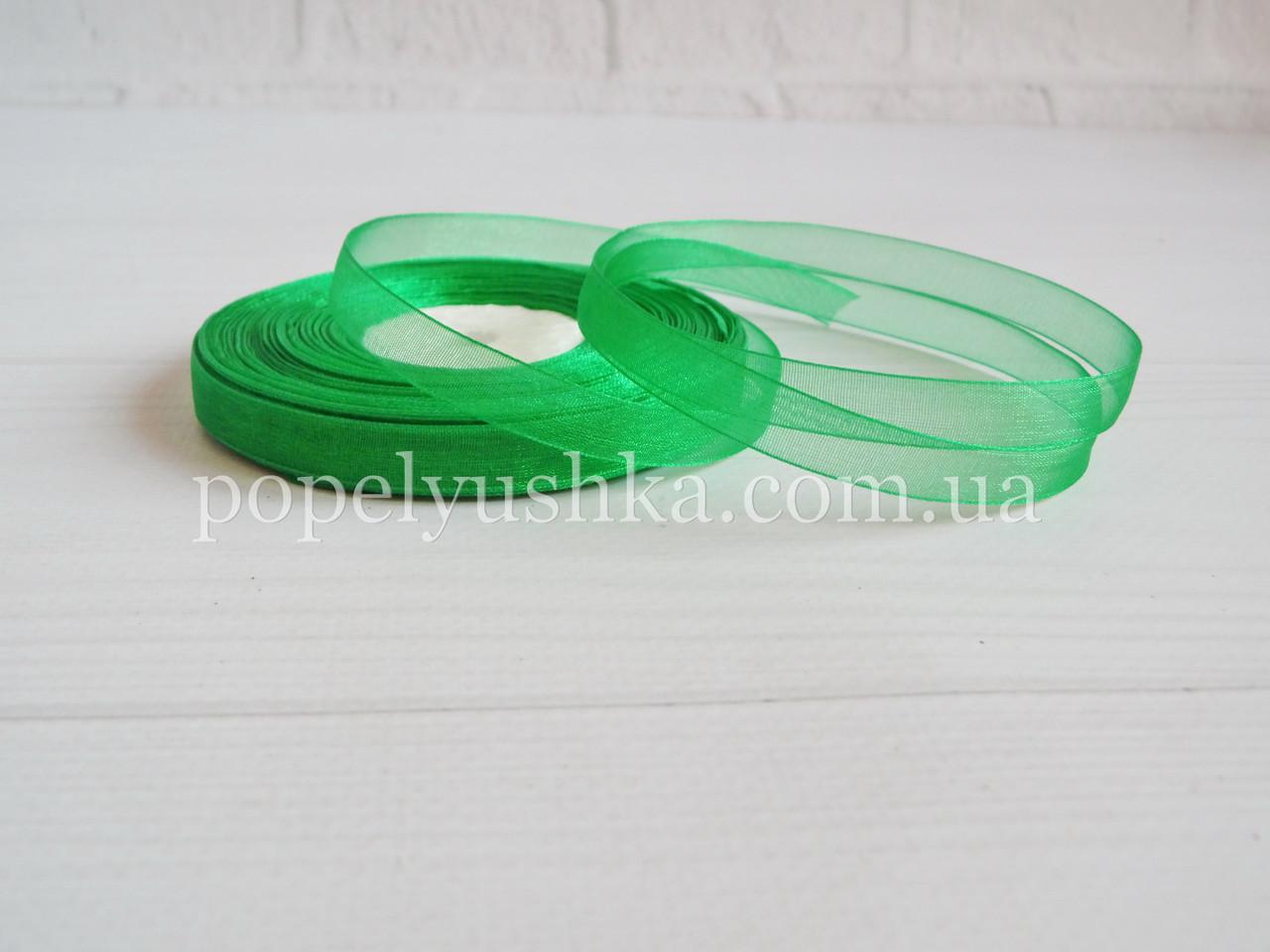 Органза 0,9 см зелена