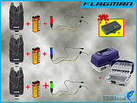 Сигнализаторы Fishing Roi X5Pro 3 шт. + Свингера с подключкой 3 шт. + Ящик Flagman на 2 полки + ПОДАРОК !