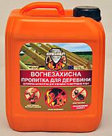 """Антипирен-антисептик для внешних и внутренних робот """"Огнебиощит"""" (готовый расствор) 5 л"""