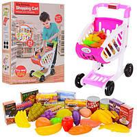 Тележка 17001-02 (18шт) 26-36-45см, супермаркет, продукты, 2цвета, в кор-ке, 33-45-9,5см