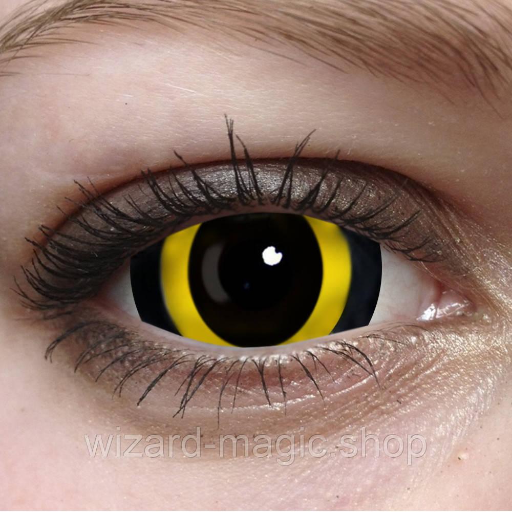 Линзы 22мм Хоррор желтый