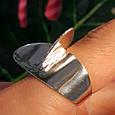 Стильное серебряное кольцо без камней - Родированное серебряное женское кольцо, фото 2