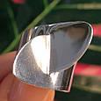 Стильное серебряное кольцо без камней - Родированное серебряное женское кольцо, фото 5
