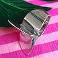 Стильное серебряное кольцо без камней - Родированное серебряное женское кольцо, фото 4