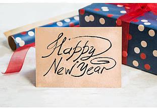 Листівка Новий рік з конвертом модель 1