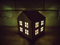Дом подсвечник домик со свечей светяшка новогодняя