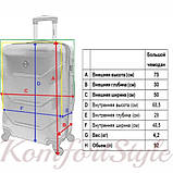 Дорожный чемодан на колесах Bonro 2019 большой шампань (10500608), фото 4