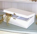 Шкатулка для ювелирных украшений  22*13,6*7,5 603426 молочная, фото 3