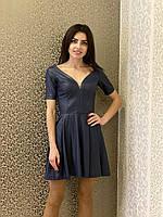 Женское платье из кожзама   Poliit 8332, фото 1