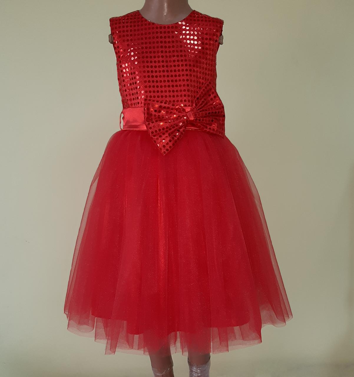 Святкова дитяча сукня «Блиск», червона