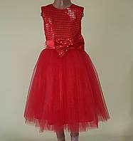 Святкова дитяча сукня «Блиск», червона, фото 1