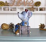 Копилка мышка бизнесмен 11*14*9 см 026 A 030D, фото 2