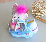 Копилка мышка с сумочкой 12*14*7 см 026 A 044-2, фото 6