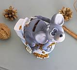 Копилка мышка с деньгами 13*14*9 см 026 A 022A, фото 5