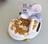 Копилка мышка с деньгами 12*13*13 см 026 A 022C, фото 6
